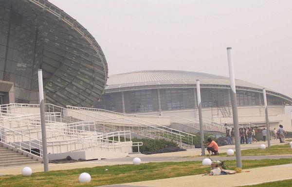 饰奖申报工程 北京工业大学体育馆立面幕墙工程