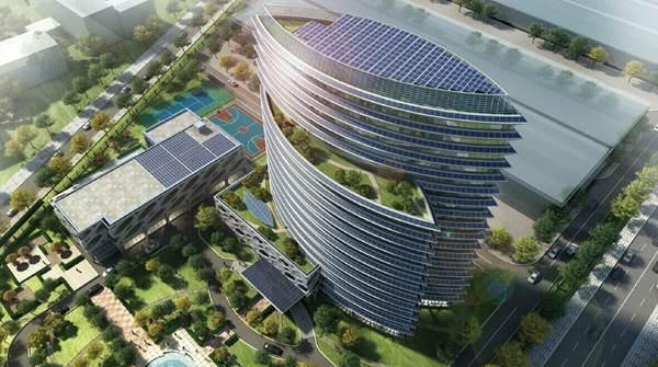 """专家组对""""珠海兴业新能源产业园研发楼""""应用的各项技术措施进行了质询"""
